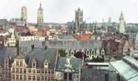 Бельгия. Панорама Гента