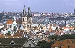 Чехия. Панорама Праги