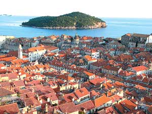 Хорватия. Панорама Дубровника